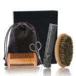 New              6Pcs/Set Beard Grooming & Trimming Kit Brush Comb Scissors Styling Mustache Care