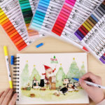 New              D93162 1 Piece 12/24/36/4872/100 Colors Marker Pens Set Double-headed Colored Marker Pen Hand Painting Artist Pens Gifts for Kids Childrens