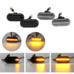 New              Dynamic Flowing LED Side Marker Lights Repeater Bulbs Yellow Pair for Nissan Opel Renault Smart