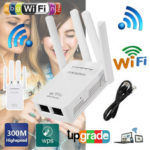 New              Wifi Repeater Router 300Mbps 2.4GHz Hot Wifi Repeater Wireless Router Range Extender Signal Booster with Antenna