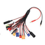 New              20 in 1 Multifunction Charger Cable 4mm Banana Pklug to XT60 XT90 EC3 EC5 Tamiya  for B6 B6AC PL6 PL8 Charger