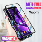 New              Bakeey Magnetic Adsorption Metal Tempered Glass Flip Protective Case for Xiaomi Redmi 8