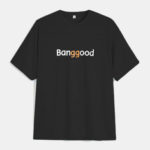 New              Banggood Logo T-shirt Fashion Cotton T-shirts Black