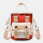 New              Women Colorblock Nylon Crossbody Bag Mini Shoulder Bag