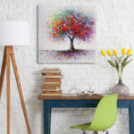 New              Framed Colorful Tree Abstract Print Art Oil Paintings Picture Home Decor