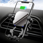 New              Bakeey 15W Qi Wireless Charger Gravity Linkage Air Vent Car Phone Holder for 4.5-6.8 inch Smart Phone for iPhone 11 for Samsung Galaxy Note 10 Xiaomi Mi 9T