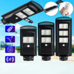 New               Solar Panel 192/384/576LED Wall Street Light Outdoor Garden Lamp wirh Remote Controller