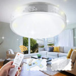 New              220V 24W 48W Super Bright Pro Dimmable LED Round Ceiling Light Fixture Lamp