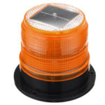 New              12V Round Roof Solar LED Magnetic Beacon Light Emergency Warning Strobe Yellow IP65 Waterproof