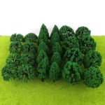 New              30/50Pcs Mini Green Trees Architecture Micro Landscape Scenery Railway Model Decorations