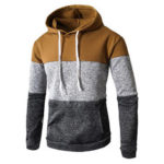 New              Mens Casual Hooded Drawstring Sweatshirt