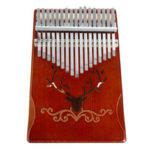New              17 Keys Pinetree Wood Kalimba Thumb Piano Finger Percussion with Tuning Hammer