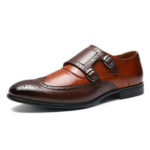 New              Men Brogue Carved Casual Business Office Leather Oxfords