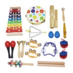 New              SY-60 19-piece Orff Musical Instruments Set Early Education Enlightenment Instrument for Children