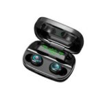 New              Mini Portable TWS bluetooth 5.0 Earphone Wireless Earbuds 9D Stereo Smart Touch Headphone with Mic