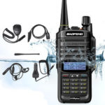 New              6 in 1 BAOFENG UV-9R Plus 10W VHF UHF Walkie Talkie Dual Band Two Way Radio US Plug with Speaker MIC & Earphone & Programming Cable & 48cm Antennas