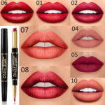 New              Matte Double-head Non-stick Cup Lipstick Lip Liner