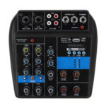 New              110-220V 4 Channel bluetooth Mini Audio Mixer Mixing Console Amplifier 48V Phantom Power