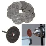 New              50Pcs Black Cutting 32mm Wheel Disc with 2 Mandrel Bit For Dremel Rotary Tool Set