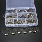 New              60Pcs Pipe Clamps Stainless Steel Hose Clips Fuel Hose Pipe Clamp Worm Drive Durable Anti-oxidation