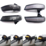 New              Pair Dynamic Door Wing Mirror LED Turn Indicator Signal Lights Amber For Ford Focus MK2 MK3 Mondeo MK4