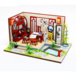New              Hongda S921 DIY Cabin Ink Bamboon in Breezing Hand-assembled Doll House Model Toy