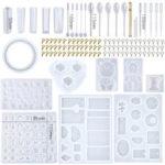 New              229Pcs DIY Bracelet Pendant Epoxy Silicone Mold Set Jewelry Pendant Mould