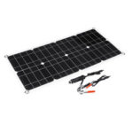 New              100W 18V Dual USB Solar Panel Battery Solar Cell Module Car Outdoor Charger Solar Power Panel 1Pcs