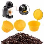 New              3Pcs/Set Colorful Refillable Coffee Capsule Cup Reusable Coffee Pods w/ Spoon Brush for Nescafe Dolce Gusto Brewer