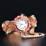 New              Deffrun Crystal Retro Style Women Bracelet Watch