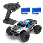 New              2 Batteries Version HS 18301/18302 1/18 2.4G 4WD Big Foot RC Car Off-Road Vehicle RTR Toys
