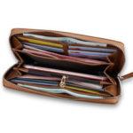 New              CarrKen 20×10.5×2.3cm Leather Long Wallet Card Holder Coin Storage Bag Phone Bag