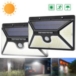 New              218 LED Solar Power PIR Motion Sensor Wall Light Outdoor Garden Light Waterproof