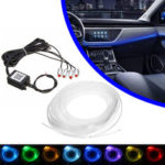 New              4/5 In 1 LED RGB Car Decoration Atmosphere Lights bluetooth Control Interior Ambient Optical Fiber Lamp