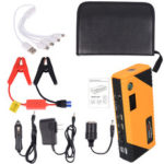 New              JX31 Display 98600mAh 12V Car Jump Starter Portable USB Emergency Power Bank Battery Booster Clamp 1000A DC Port Yellow