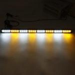 New              35Inch 32 LED Warning Strobe Light Traffic Advisor Emergency Hazard Bar Amber+White