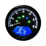 New              12000RPM Waterproof LCD Digital Motorcycle Speedometer Odometer Tachometer MPH/KMH Universal