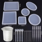 New              22PCS DIY Epoxy Silicone Mold Set Jewelry Bracelet Resin Mould Craft Casting