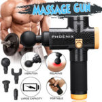 New              Phoenix Percussion Massager  Deep Muscle Vibration Therapy Device !