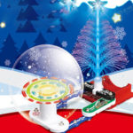 New              Christmas Tree DIY Toys Kids Electronics Blocks Educational Snap Circuit Kit Discovery Science