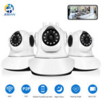 New              Jooan C6C HD 1080P WIFI IP Camera 11 LED PT 360° Built-in Antenna IP Camera Motion-Detection Two-way Audio Baby Monitors