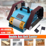 New              950W 220V Double Shaft Belt Sander Multi-function Bench Electric Polisher