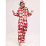 New              Christmas Costume Flannel Loungewear Jumpsuits