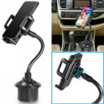 New              Universal Adjustable Water Cup Car Phone Holder Car Phone Mount For 4.0-6.8 Inch Smart Phone for iPhone for Samsung Xiaomi Redmi Note 8