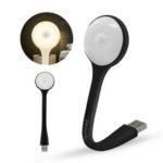 New              Loskii HC-U312A1 Human Body Sensing Automatic LED Night Lamp Portable USB LED Mini Night Light