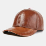 New              Outdoor Casual Top Layer Cowhide Baseball Caps