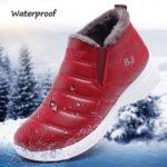New              Women Plush Lining Waterproof Non-slip Casual Shoes
