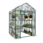 New              3-Tier Portable Greenhouse 6 Shelves PVC Cover Garden Cover Plants Flower House