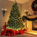 New              2.1m/7FT Christmas Tree Artificial Pine Christmas Tree Holiday Party Decorate Green Tree DIY Christmas Tree Kit