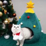 New              Christmas Tree Cat Litter Kennel Winter Warm Pet Nest Winter Cat House Pet Supplies Pet Bed